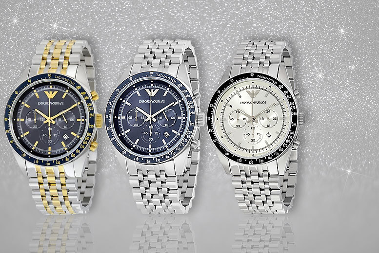 £139 instead of up to £299 (from Jacob Ekland) for a men's Emporio Armani watch - choose from three seriously suave styles and save up to 51%