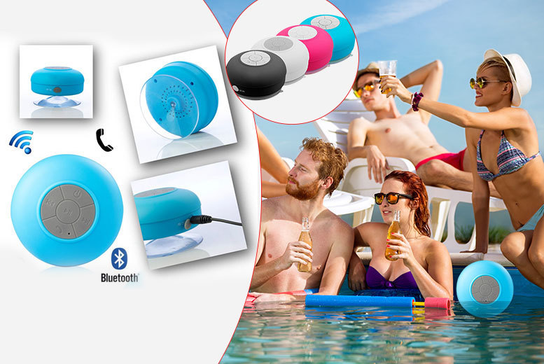 £6.99 instead of £23.99 (from Chimp Electronics) for a water-resistant Bluetooth shower speaker with microphone - choose from four colours and save 71%