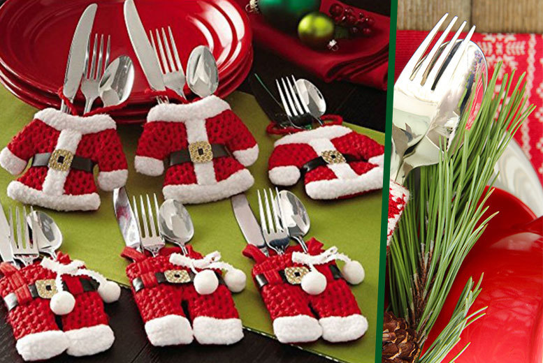 £4.99 instead of £14.99 (from E-Smartshop) for a set of four Santa Claus cutlery socks, £8.99 for eight, £11.99 for 12 or £14.99 for 16 - save up to 67%
