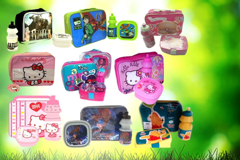 £7.99 instead of £18.99 (from London Exchainstore) for a kids 3-piece lunch bag set with a choice of 13 different characters - save 58%