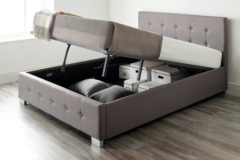 From £129 instead of £399 (from Aspire Store) for a single fabric ottoman bed – choose your options and save up to 68%