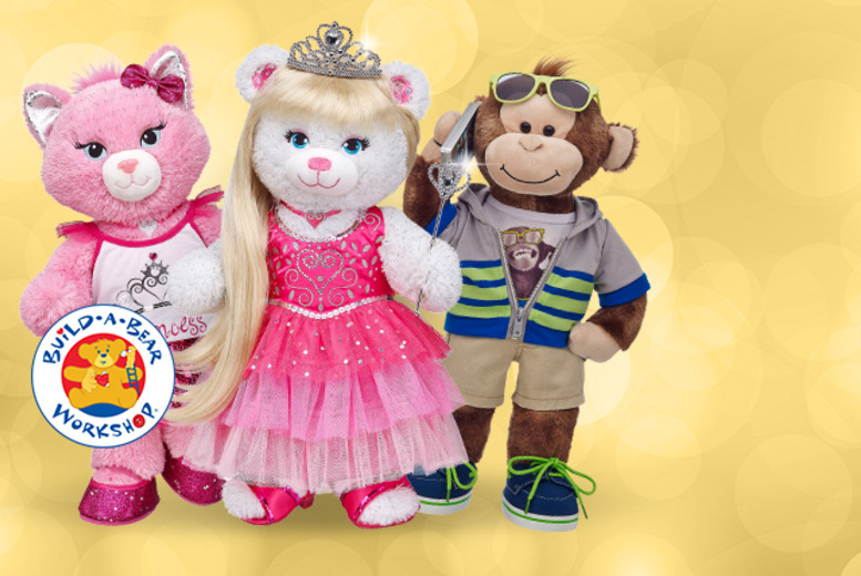 £10 for a £20 Build-A-Bear Workshop voucher to spend online or in-store at any one of their 60 UK locations - save 50%