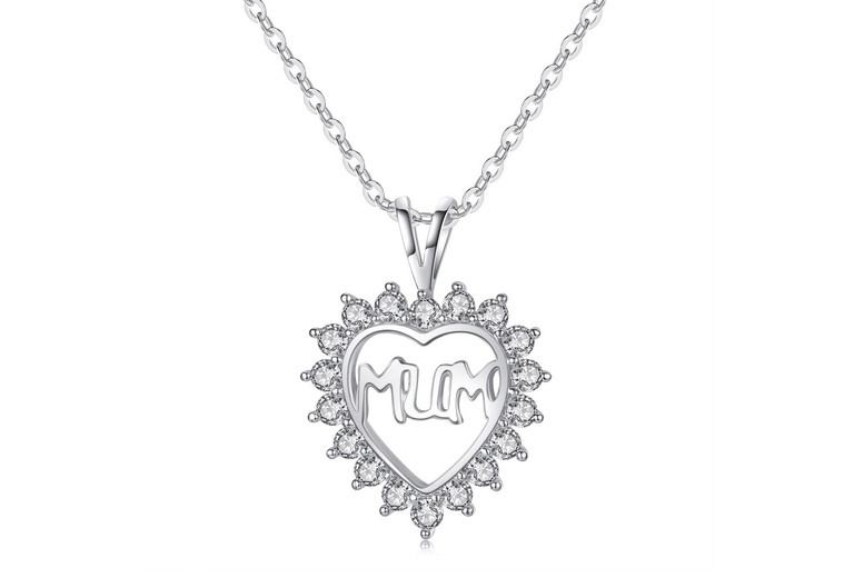 Mum Heart Pendant made with Crystals from Swarovski ®