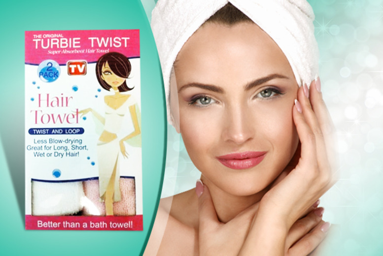 £9.99 instead of £27.95 (from SalonBoxed) for a 2-pack of original Turbie Twist hair wrap towels - save 64%