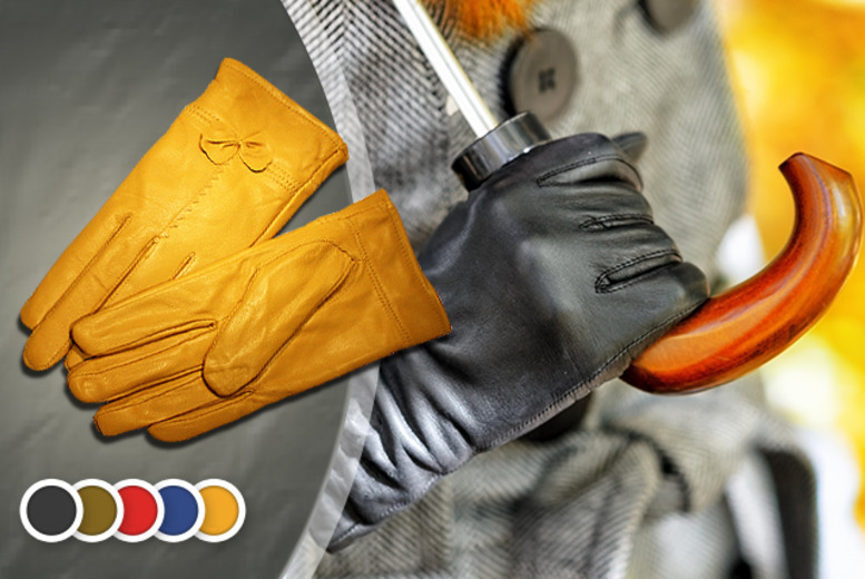 £12.99 instead of £40 (from Cerichic) for a pair of leather bow gloves in a choice of colours - save 68%