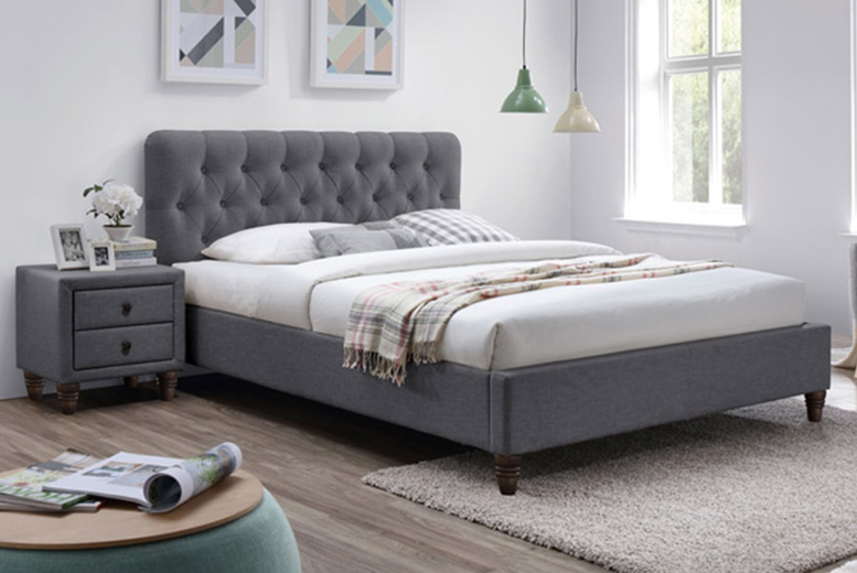 From £189 (from The Furniture Department) for a Montpellier buttoned fabric bed – save up to 73%
