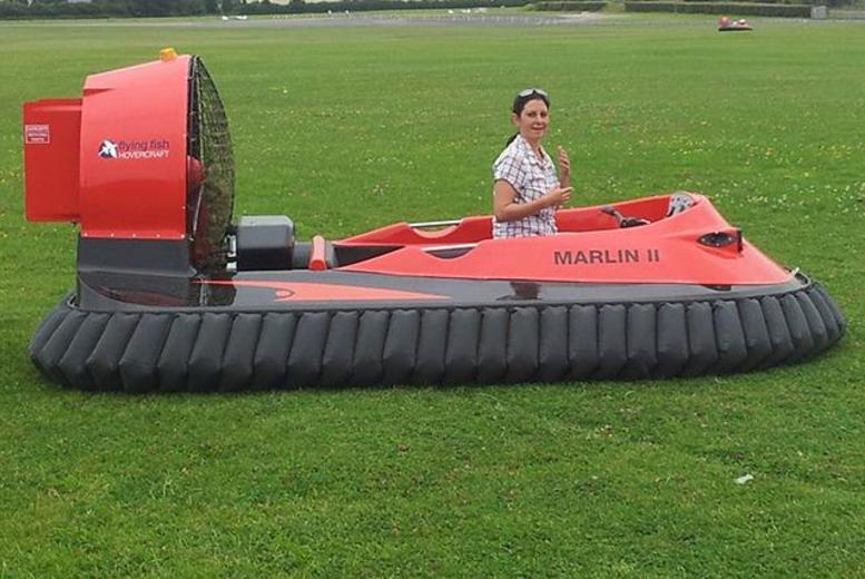From £29 for a 5-lap hovercraft experience, or from £34 for 10 laps at Hover Limits, Essex and the Vale of Glamorgan