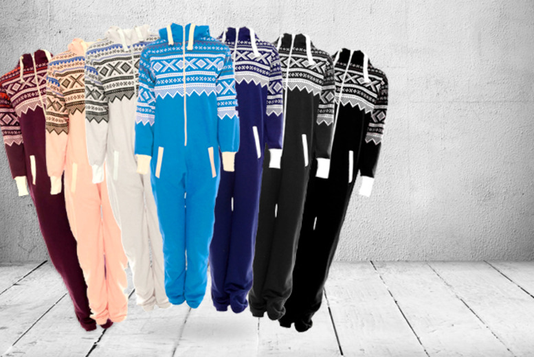 £15 instead £39.99 (from iKRUSH) for a hooded aztec onesie - save an uber-comfy 62%