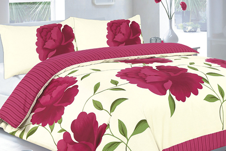 £10 (from Groundlevel.co.uk) for a single Rosaleen duvet set, £12 for a double or £14 for king