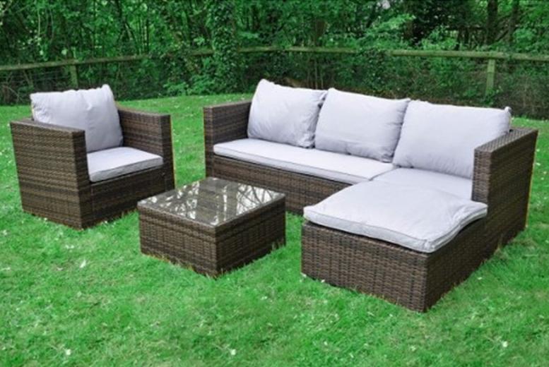 Rattan Modular Garden Corner Sofa (£329)
