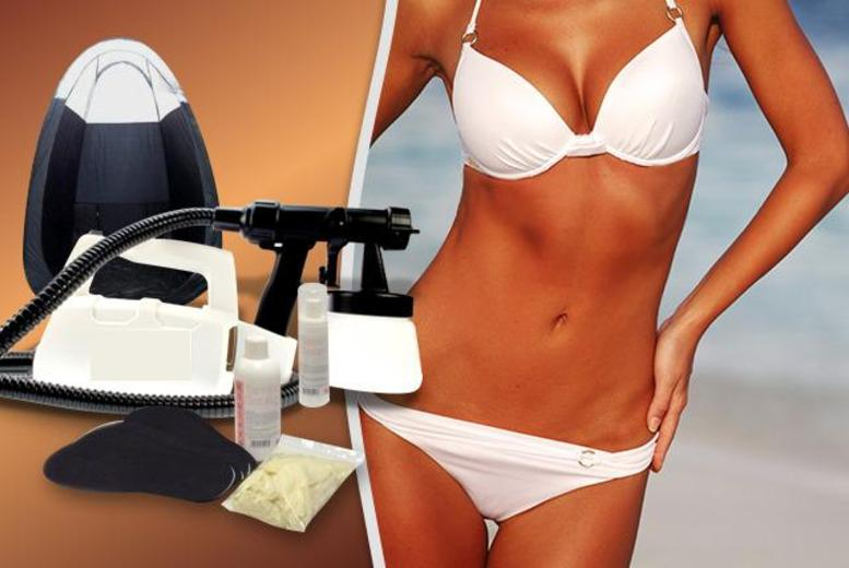 £99 instead of £242.98 (from Millennium Nails) for a home spray tanning kit, £149 inc. a tanning tent - save up to 59%
