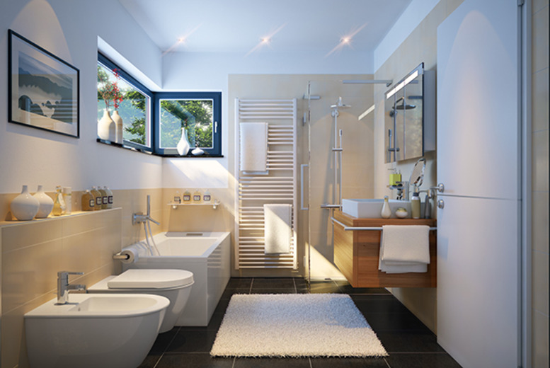 £2500 for a complete professional designer bathroom installation for a bathroom up to W3m x D3m x H2.5m from Haynes Bathrooms, Birmingham - save 38%