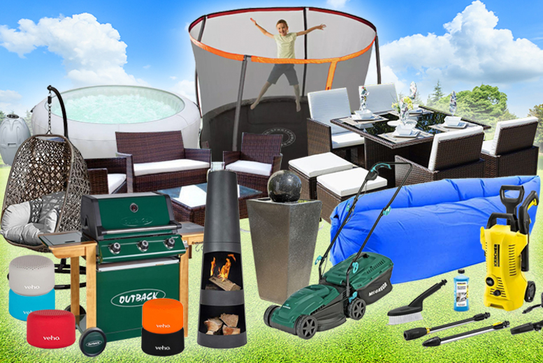 Summer Mystery Deal – Rattan Set, Hot Tub, Outdoor Speakers & More! (£9.99)