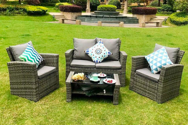 Rosen Four Seater Rattan Garden Set (£349)