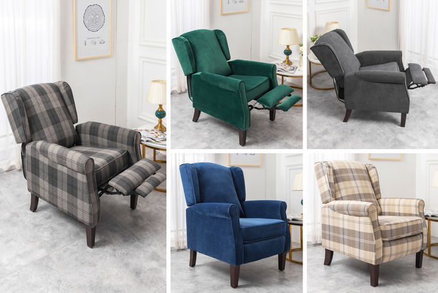 Wing Back Fabric Chair | Shop | Wowcher
