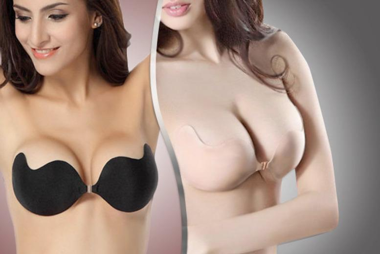 £8.99 instead of £49.99 for an AddMe Silicon™ 'invisible' push-up bra in black or nude from Shapelle - save up to 82%