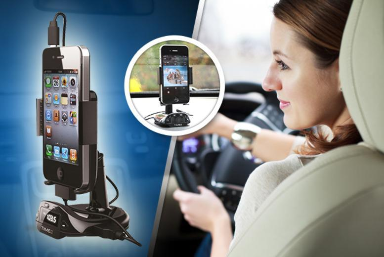 £13.99 instead of £35.99 (from TIME 2) for a compact in-car FM transmitter with hands-free calling function - save 61%