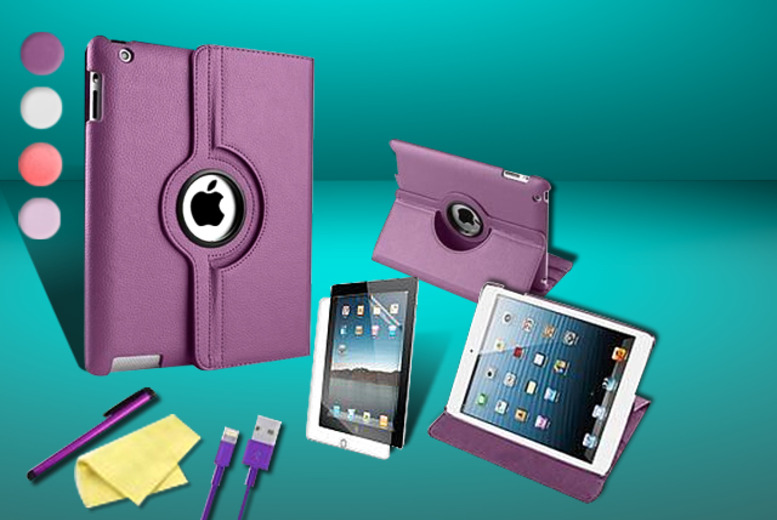 £10.99 instead of £36.99 (from Mixture Store) for an iPad 360-degree case bundle for the iPad 2, 3 and 4 - save 70%