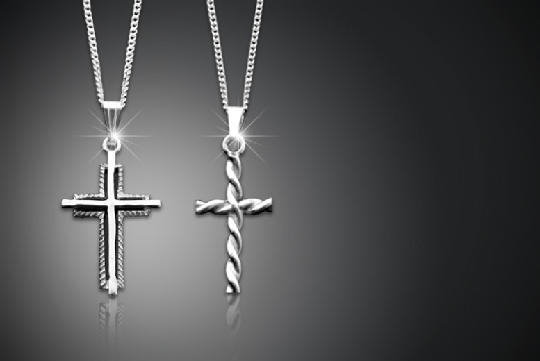 £10 instead of £49 (from British Gem) for a sterling silver cross necklace in a choice of 2 designs - save 80%