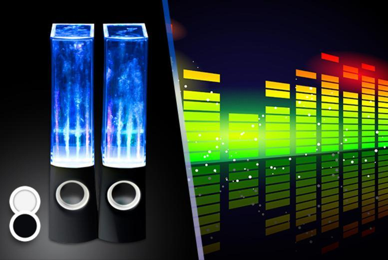 £14.99 instead of £49.99 (from Chimp Electronics) for a pair of dancing water speakers - save 70%