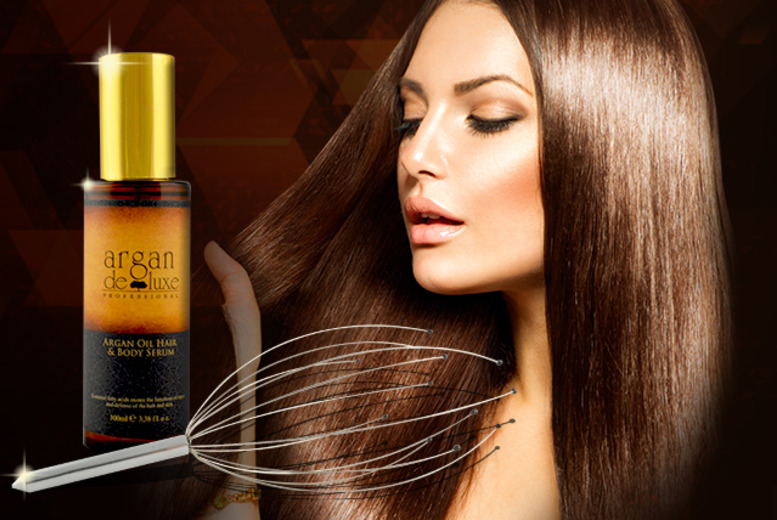 £16 instead of £49.50 (from The Beauty Challenge) for a 100ml Argan hair oil and head massager - save 68%