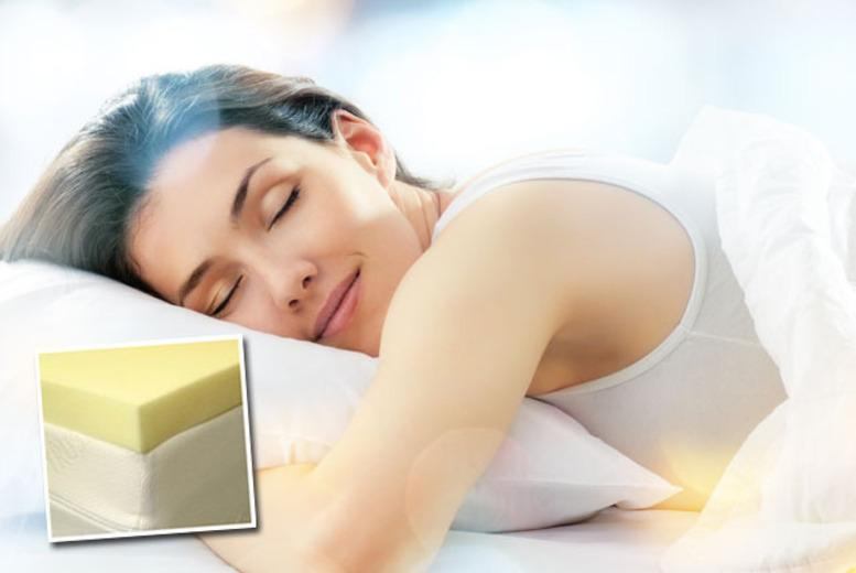 £39.99 (from Trusleep) for a singress toppele, double, king, or super king size memory foam mattr