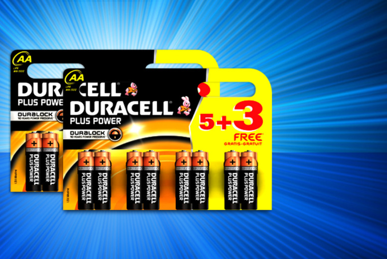 £5.99 instead of £9.98 for 16 Duracell AA Plus Power batteries, £8.50 for 24 or £13.99 for 32 from Wowcher Direct - save up to 40%