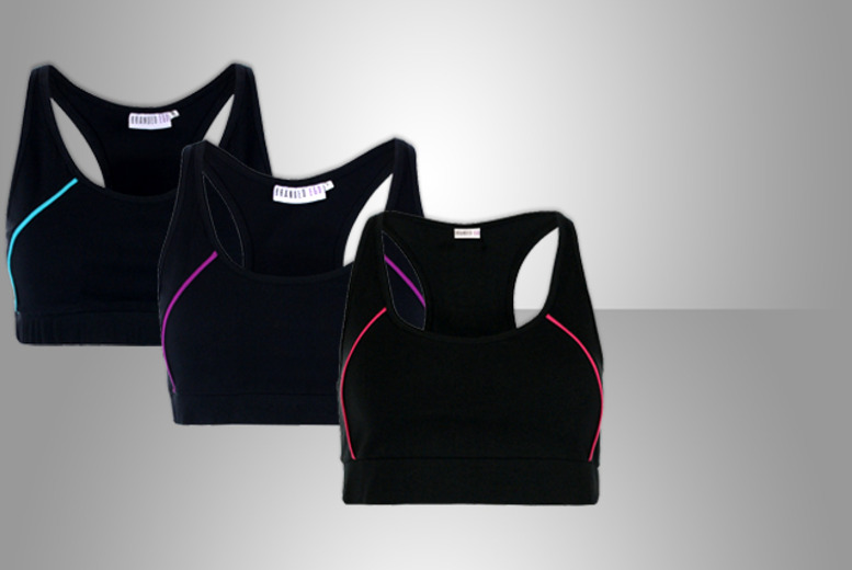 £12 instead of £21 (from Branded Ego) for a racerback sports bra - choose from three designs and save 43%