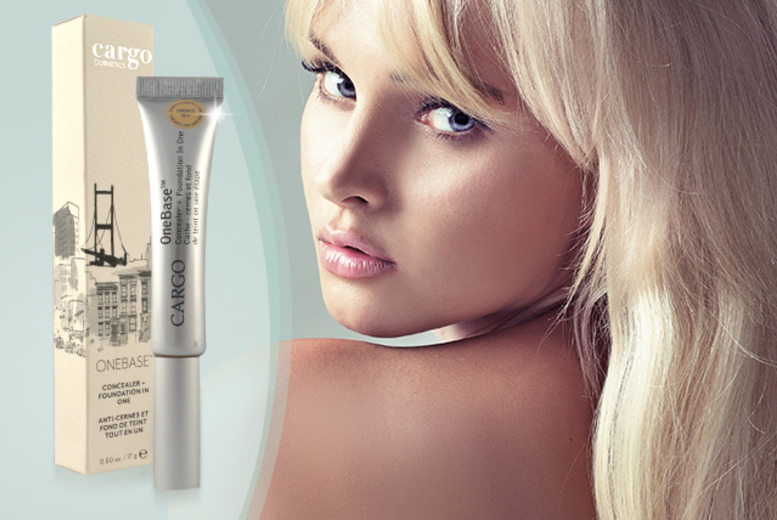£6 instead of £16.20 for a 17g tube of Cargo OneBase™ all-in-one concealer and foundation - save 63%