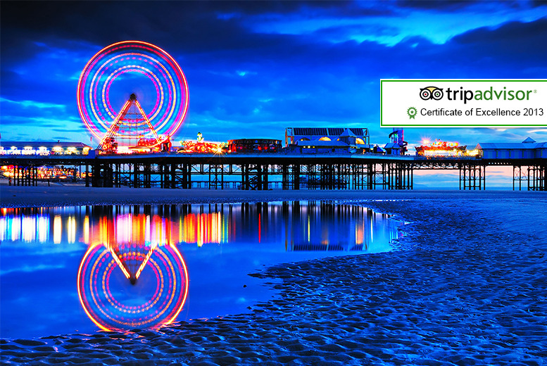 £59 instead of £110 (at Sandford Promenade) for a 2nt Blackpool stay for 2 inc. breakfast & one lunch, £79 for a 2nt family stay - save up to 46%