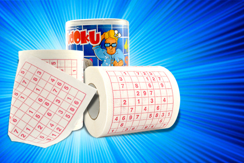 £4.99 instead of £12.99 (from London Exchainstore) for two rolls of Sudoku toilet paper, or £8.99 for four rolls - save up to 62%