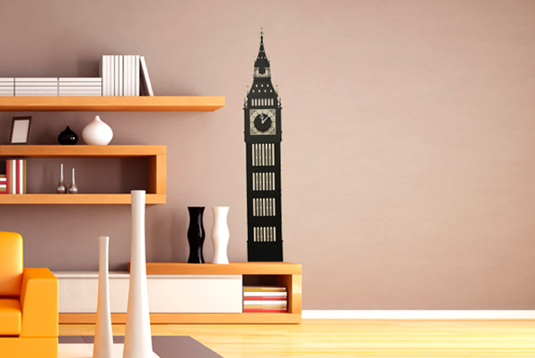 £8.99 instead of £17.99 (from Unusual Giftz) for a Big Ben wall clock vinyl sticker set - save 50%