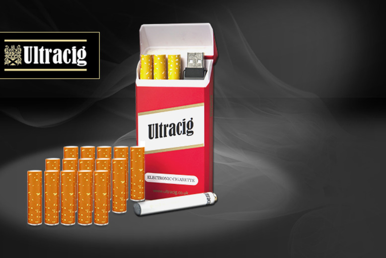 £9.99 instead of £30.48 (from Ultracig) for an e-cig starter kit with 8 refills (= c240 cigs), £19.99 for a kit with 18 refills - save up to 67%