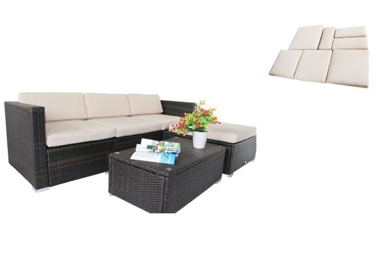 7-Piece Rattan Sofa Cushion Cover Replacement Set (£49)