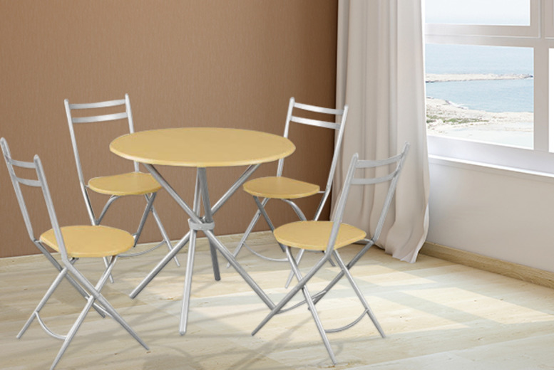 £99 instead of £244.99 (from Groundlevel.co.uk) for a Nicol space-saving dining furniture set inc. a table and 4 chairs - save 60%