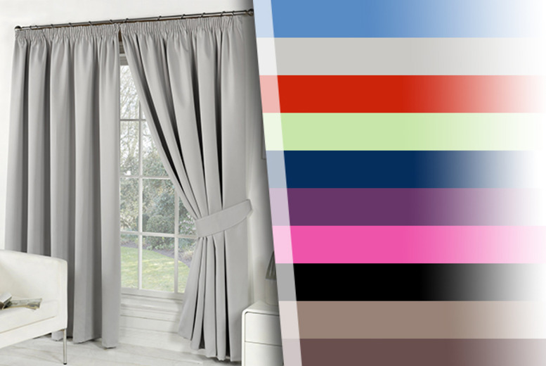 From £9.99 for a pair of blackout curtains in a choice of colours and sizes from Wowcher Direct - save up to 44%
