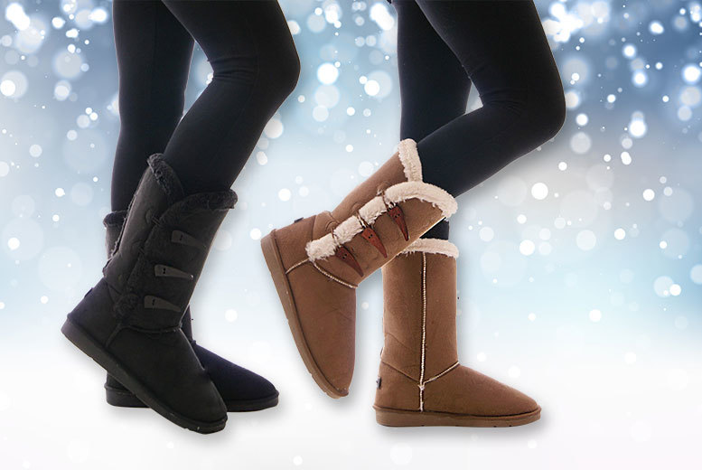 Faux Fur Boots - 2 colours. - National Deal, National Deal - GB