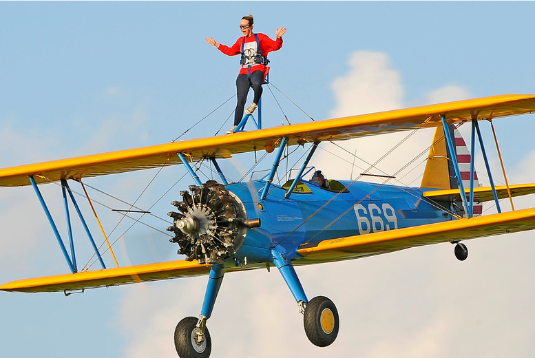 £399 for a wing walking experience with Aerobatic Tactics, Upminster