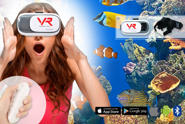 £14.99 instead of £86 (from Daniel James) for a virtual reality headset with an integrated Bluetooth remote control - save 83%