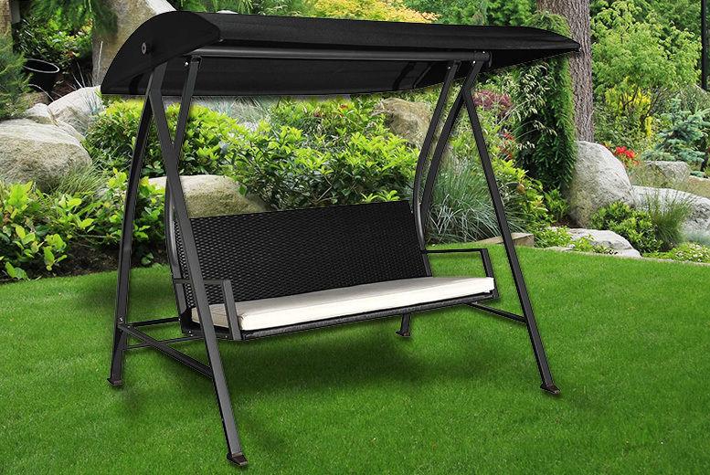 Rattan 3-Seater Garden Swing Chair (£279)