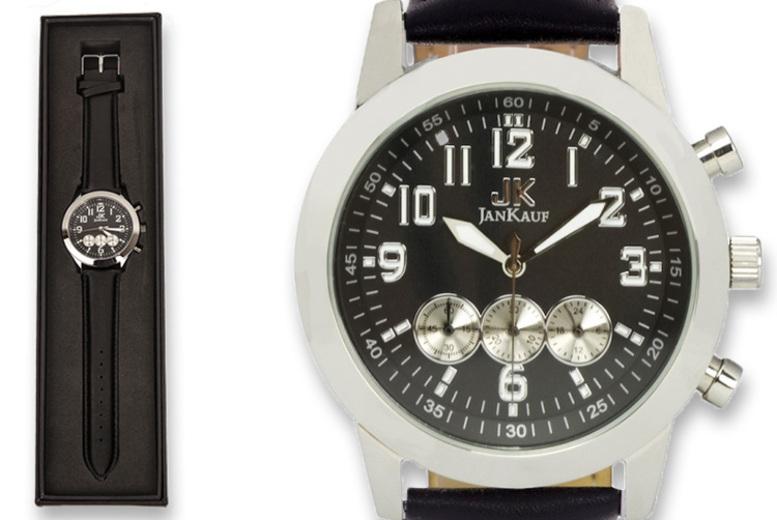 Image of Jan Kauf Jk1035 Men's Watch | Silver | Living Social