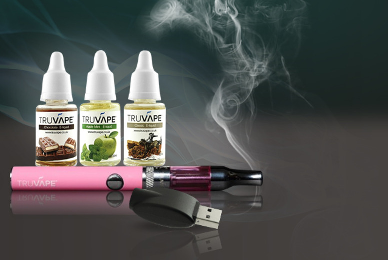 £19 instead of £38.50 (from Truvape) for a pink Tru Hybrid eCig bundle inc. battery, USB charger and 3 eLiquid flavours (= c600 cigs) - save 51%