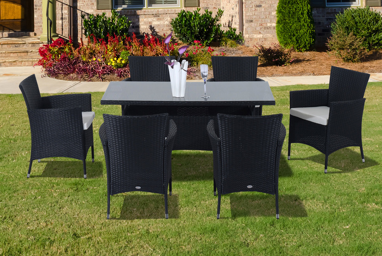 7pc Rattan Dining Furniture Set (£549)