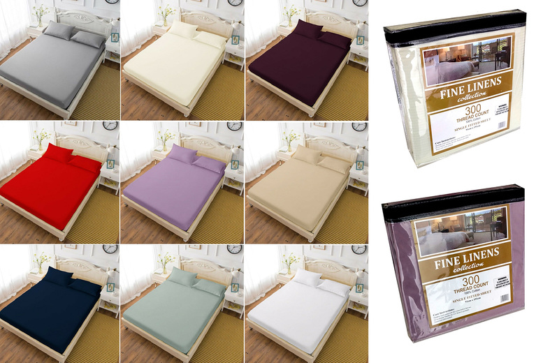 £7.99 (from Eurotrade) for a single cotton fitted bed sheet, £8.99 for a double cotton fitted bed sheet, £9.99 for a king size cotton fitted bed sheet or £10.99 for a super king cotton fitted bed sheet