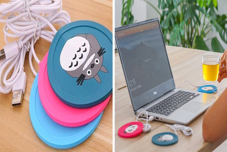£8.99 instead of £19.99 (from Wish Imports) for a USB cup warmer mat - choose your design and save 55%
