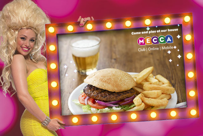 £7.99 for a bingo session for 2 inc. a burger, drink and a free game of bingo each at Mecca Bingo in a choice of 4 locations across the UK