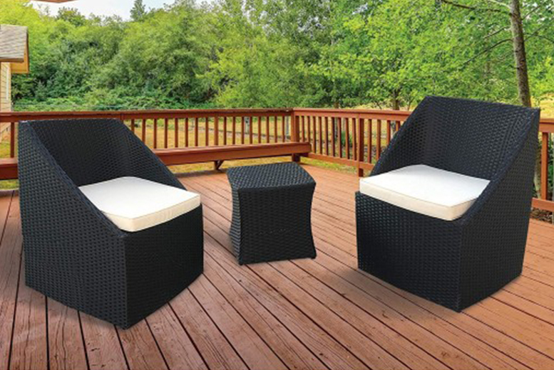 3pc KEPLIN Rattan Garden Furniture Set (£199)