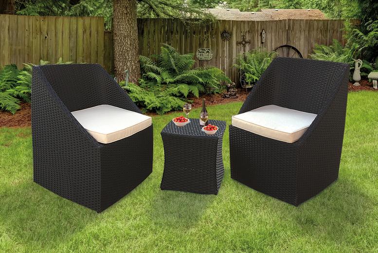 3pc KEPLIN Rattan Garden Furniture Set (£169)