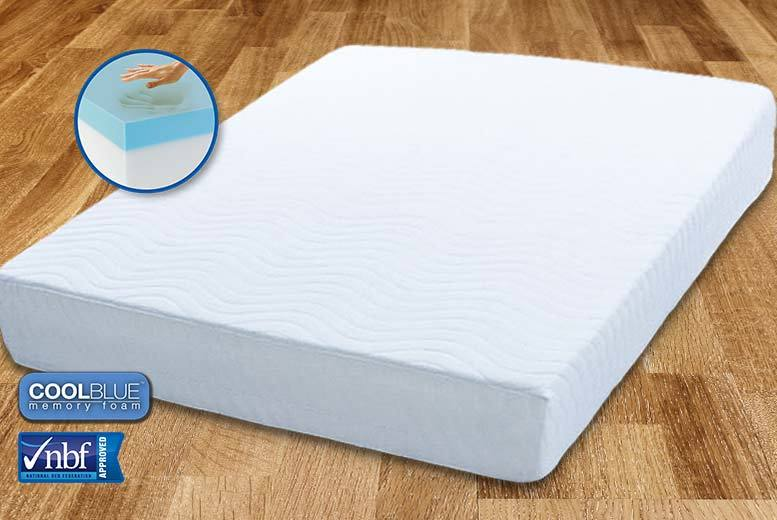£69 (from My Mattress Online) for a single Comfort CoolBlue™ memory foam mattress, £89 for a small double or double mattress, or £109 for a king mattress - save up to 82%