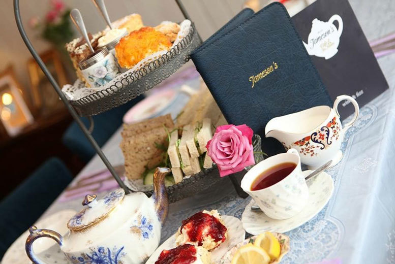 £12.95 instead of £25.90 for a traditional afternoon tea for two people, £18.95 to include Prosecco or mulled wine at Jameson's Café & Tea Rooms, Leeds - save up to 50%
